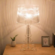 Modern Clear Ghost Shadow Transparent Acrylic Table Lamps Light Bedroom Bedside Study Acrylic Desk Lamps Simple Light