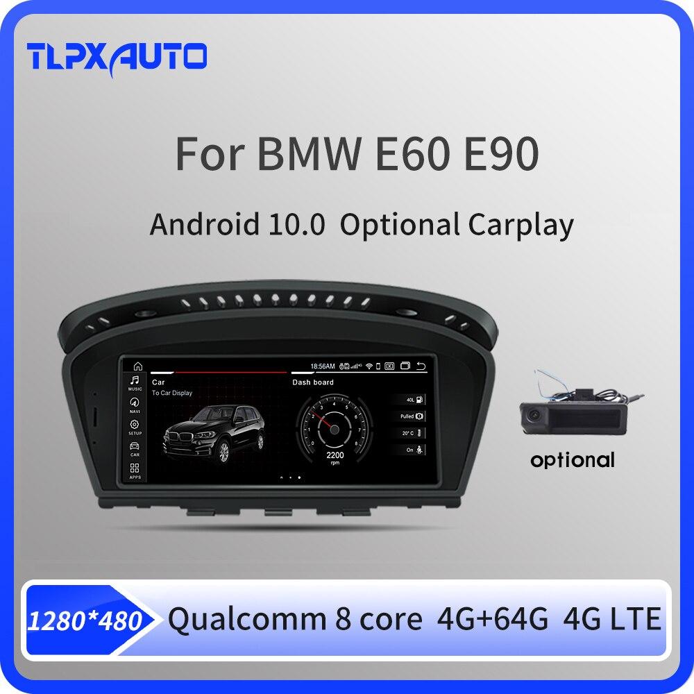 Автомобильный мультимедийный плеер, сенсорный экран 8,8 дюйма, Android 10,0, 8 ядер, для BMW 3, 5 серии, E60, E61, E62, E63, E90, E91, GPS-навигация, Авторадио