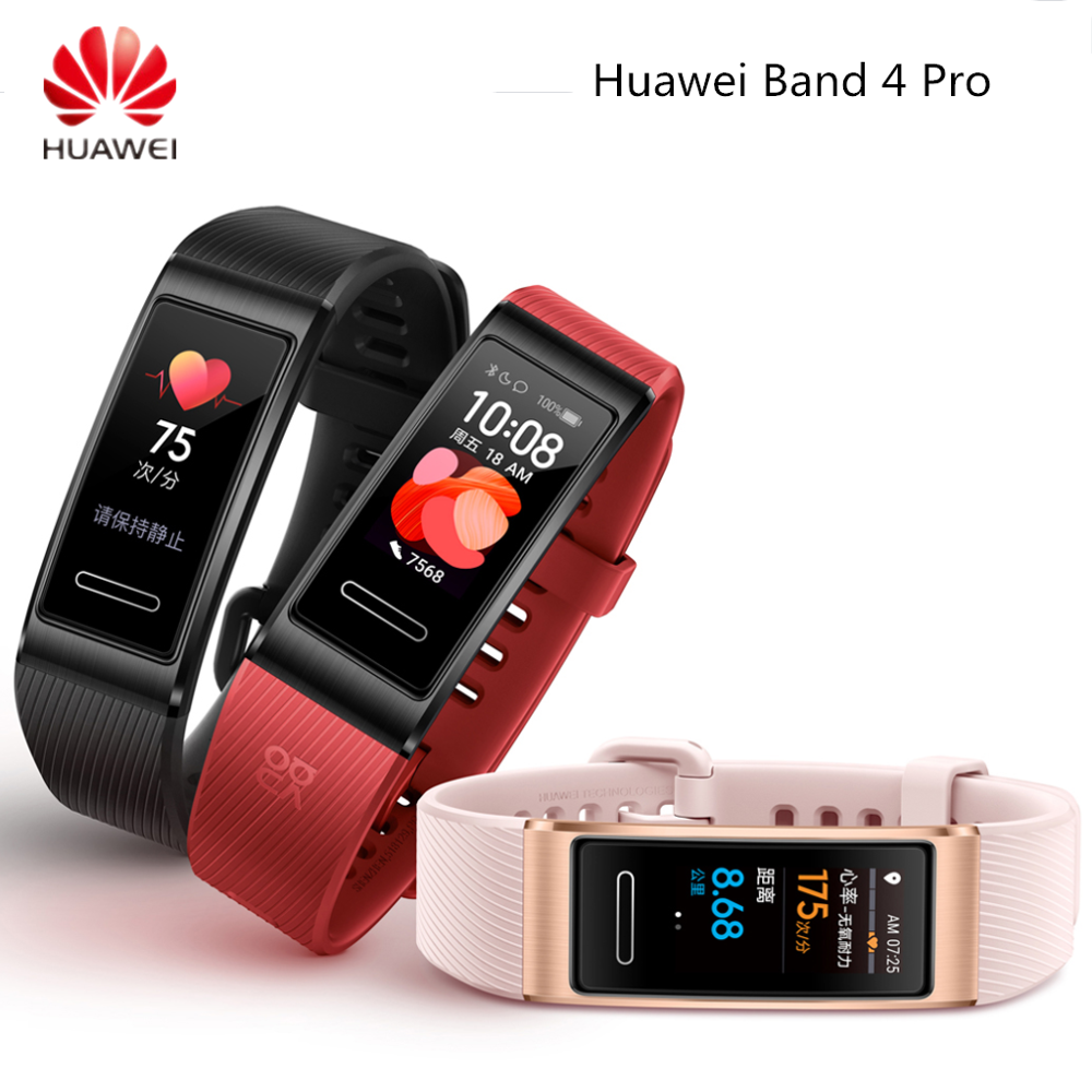 Original Huawei Band 4 Pro Smart Band GPS Amoled 0.95' Waterproof Metal Swim Heart Rate Sensor Touchscreen Sleep Bracelet|Smart Wristbands| - AliExpress