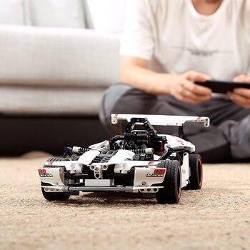 Bloques de construcción inteligentes Mitu de xiaomi, carreras de carretera, coches de carreras eléctricos, modelo de coche de Control remoto, juguete de relleno para niños y niños, coche Rc Legao