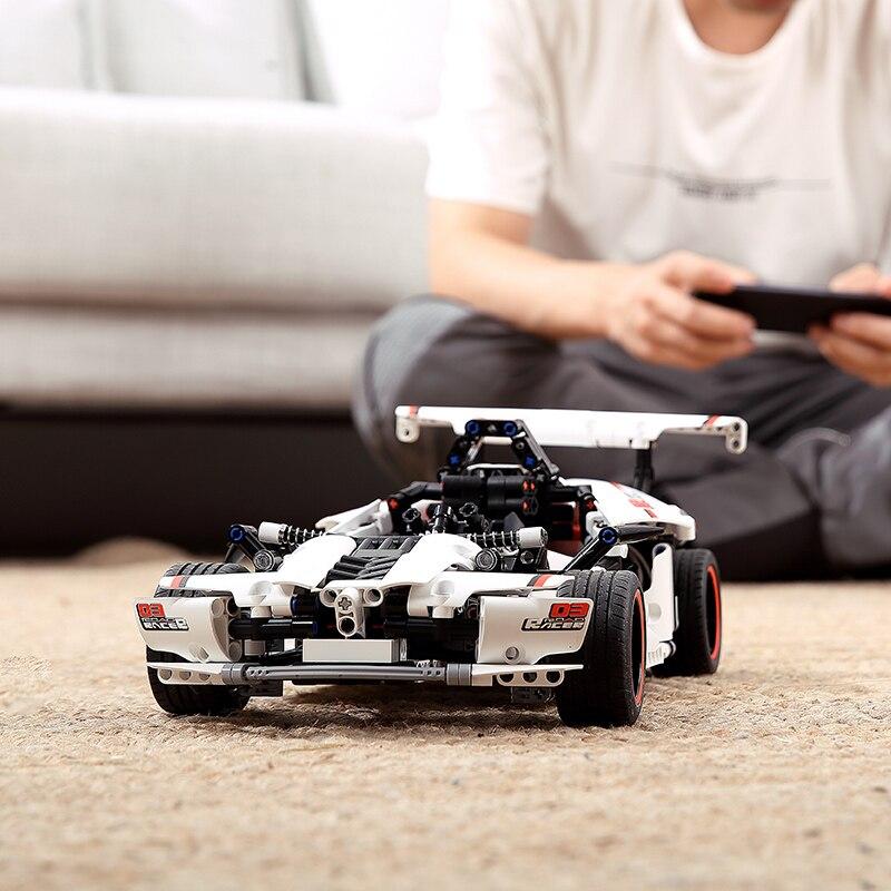Xiaomi Mitu Intelligent Building Blocks Road Racing Electric Racing Remote Control Car Model Fill Toy Children Boy Car Rc Legao