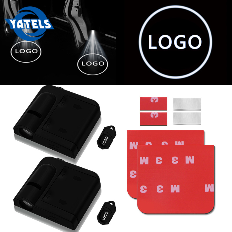 2x Wireless Led Car Door Welcome Laser Projector Logo Ghost Shadow Light For Volkswagen Ford BMW Toyota Mercedes Benz Mazda Audi