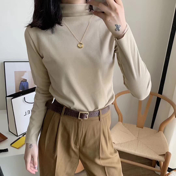 купить 2020 Autumn Winter Thick Women White Turtleneck Jumper Roll Collar Sweater Women Knitted Pullover Sweater Slim Long Sleeve Warm в интернет-магазине