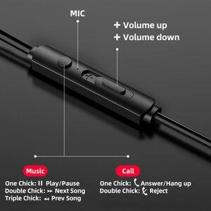 Image 3 - Auricolari sportivi In Ear con microfono cuffie Stereo cablate da 3.5mm cuffie vivavoce auricolari per lettore Mp3 iPhone Xiaomi telefono cellulare
