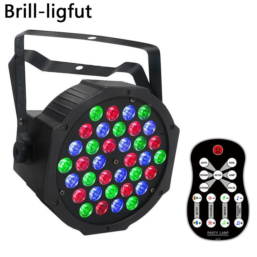 36 LED Stage Light Lumiere RGB LED Par Lights With DMX512 Sound Activated UV Disco Party Light Christmas Projector Strobe Light