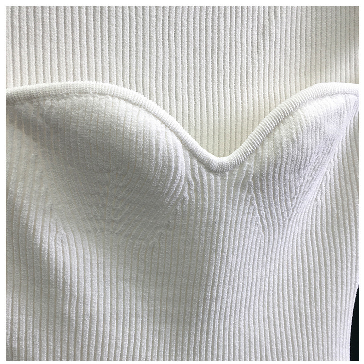 H2a6a872e6b694134acdc1f08b4222816y 2020 New Women Summer Sexy Square Collar Knitted T Shirts Pure Color Women Short Sleeve Slim T Shirt s For Women White Tees