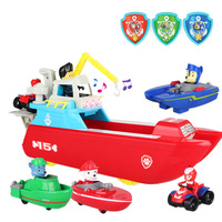 Paw Patrol Juguete Sea Patrol Sound Music and Rescue Light Yacht Base Toy Action Figure Model Toys for Children Gift SS