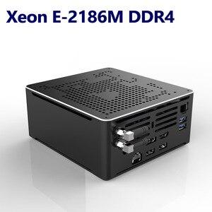 Image 2 - Intel Xeon E 2186M/Xeon 2*2666MHZ DDR4 מיני מחשב שרת Windows 10 פרו UHD גרפיקה 630 HDMI מיני DP 4K WiFi BT מחשב שולחני
