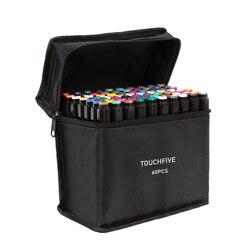 Маркеры TouchFIVE, масляные, на спиртовой основе с двойной кистью, 30/40/60/80/168 цветов