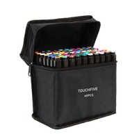 Touchfive 30/40/60/80/168 marcadores da arte da cor ajustaram o esboço do artista com cabeça dupla álcool oleoso baseado marcadores para o mangá da animação