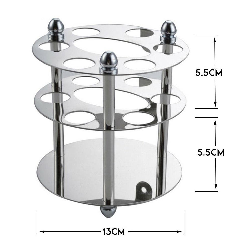 Stainless Steel Toothbrush Holder Round Toothpaste Razor Stand Multifunction Bathroom Organizer Toothpaste Holder Stand image