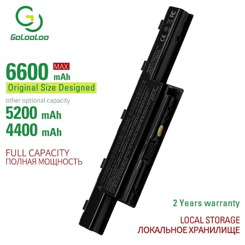Golooloo 6 Cells Laptop Battery For Acer Aspire 4771 4771G 4771Z 5250 5251 5252 5253 5253G 5333 5336 5342 5349 5350 5551 5551G