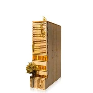 Image 2 - 홈 장식 밤 빛 Bookend 펜 홀더 DIY 나무 공예 키트 미니어처 빈티지 모델 장식 액세서리 친구를위한 선물
