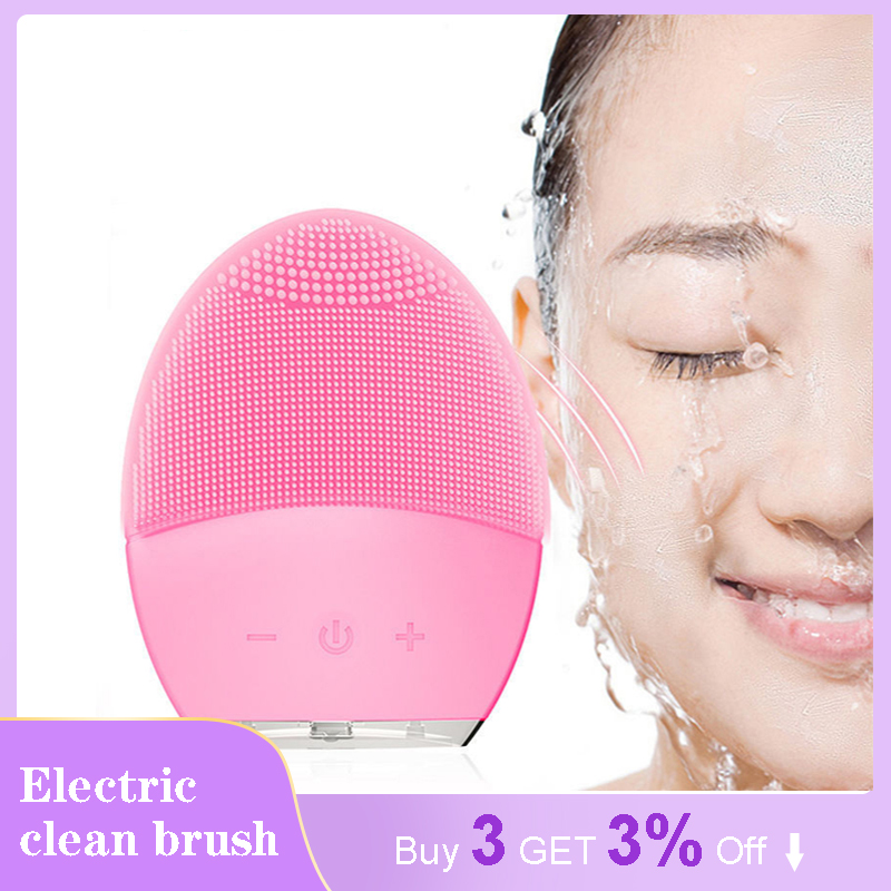 Facial Brush Foreoing Skin Care For Brush Cleaning Silicone Scrub Pore Cleaner Sonic Massager For Face Exfoliating Machine