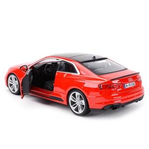 Image 3 - Bburago 1:24 Audi RS5 Coupe Sport Auto Statico Pressofuso Veicoli Da Collezione Modello di Auto Giocattoli