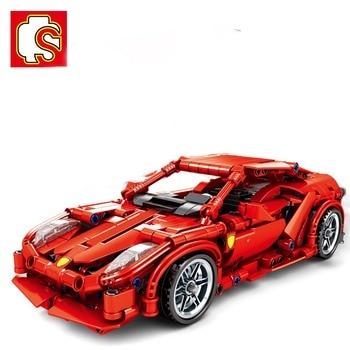 Sembo Blocks City Super Racers Compatible con el campeón de velocidad Supercar Ferris, kits de bloques de construcción, juguetes para niños, regalo para niños