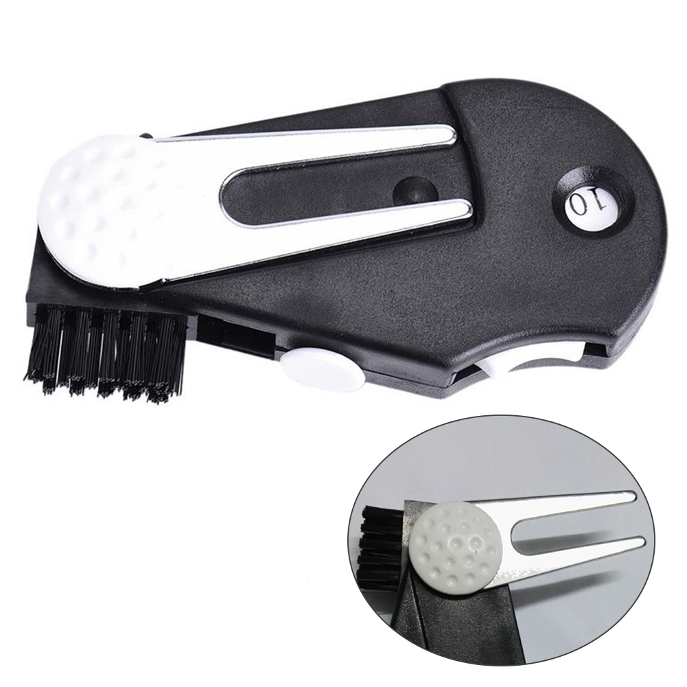 1pc5In1 Score Counter Training Aids Foldable Multifunctional Lawn Golf Divot Tool Portable Accessories Putting Green Fork Repair 5