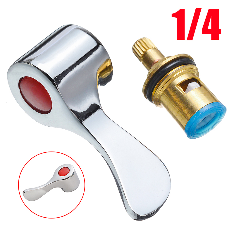 New Replacement Lever Heads Reviver Faucet Handle Conversion Kit 1/4 Turn Use Basin Sink Tap For Kitchen Faucet Accessories