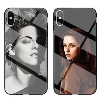 kristen stewart Phone Case Tempered Glass For iPhone 11 Pro XR XS MAX 8 X 7 6S 6 Plus SE 2020 case
