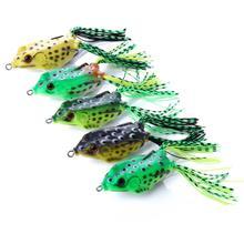 5pcs/set 6cm/12g Lure Frog Baits with Sharp Hooks Soft Bait for Bass Snakehead Salmon