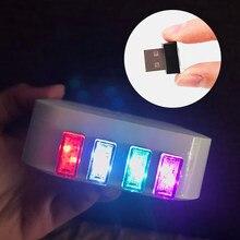 1 stücke Auto-Styling USB Atmosphäre LED Licht Auto Zubehör für Geely Vision SC7 MK CK Kreuz Gleagle SC7 englon SC3 SC5 SC6 SC7