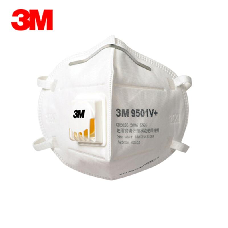 3M N95 Respirator Mask 9501V 9502V PM2.5 Ffp2 Mascherine Protective Mask Breathable 95% Close To Mascherina Ffp3 Dust Mask