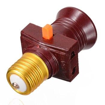 цена на 1pc Univesal 110-250V E27 Screw Base Light Bulb Holder Convert With Switch Lamp Socket New