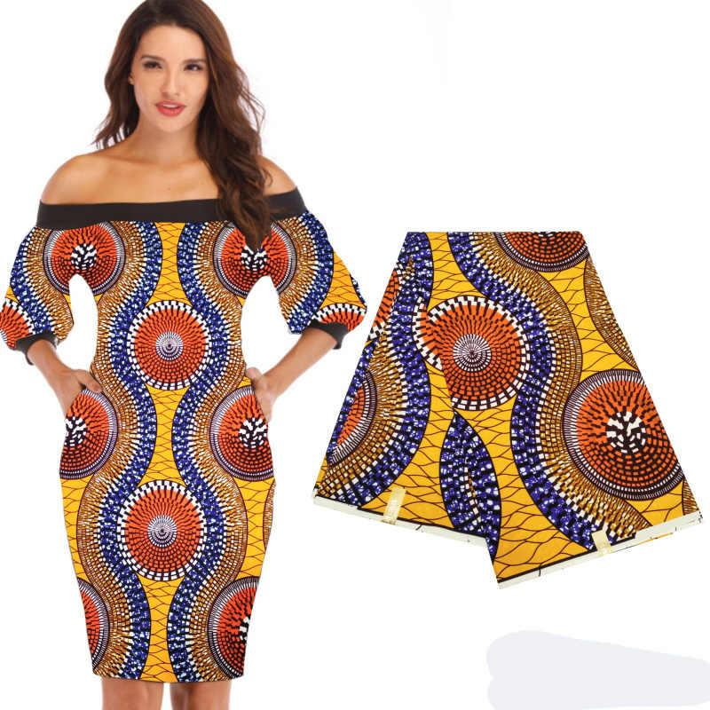 Niet Katoen 100% Polyester Stof Goedkoopste Afrikaanse Stof Ankara Stof Wax Afrikaanse Wax Prints Stof 6 Yards