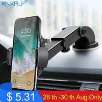 RAXFLY luksusowy uchwyt samochodowy telefon dla iPhone X XS 8 7 Plus uchwyt na przednią szybę do samochodu stojak na telefon samochodowy uchwyt na Samsunga S9Telefon Tutucu