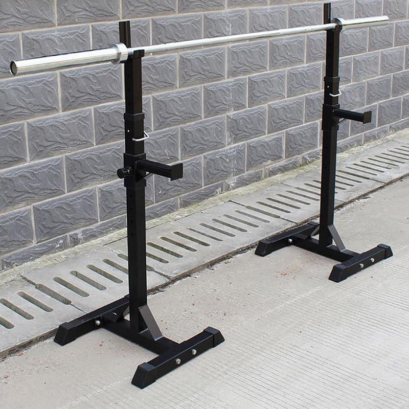 Barbell Acero soporte ajustable multifunción tipo Split Squat Rack mancuernas de levantamiento de pesas de entrenamiento de fuerza Fitness de prec - 3