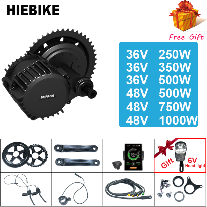 Bafang//8Fun BBS02 36V 500W Mid-Drive Motor E-Bike Conversion Kits With Color LCD