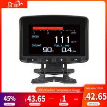 A208 OBD2 Coolant Temperature Gauge Diagnostic Tool Thermometer Digital Clock DC12 24V Automobile Clock Voltmeter Voltage Tester