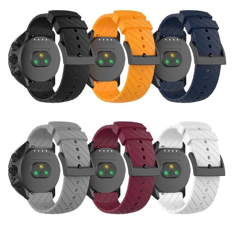 24mm Band Strap For Suunto Spartan Sport Watchband Bracelet For Suunto 9 D5 Suunto Spartan Sport Wrist HR/Baro Silicone