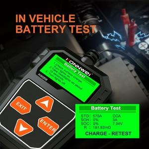 Image 4 - Konnwei kw208 testador de bateria carro 12v 100 a 2000cca bateria ferramentas para carro rápido cranking carregamento diagnóstico carregador analisador