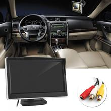 5 Inch TFT LCD Screen 480 x 272 HD Digital Color Car Rear View Monitor Support VCD / DVD GPS Camera New