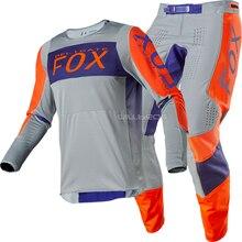 Новинка Naughty Fox MX гонки 360 Linc Джерси и брюки комбо серый/оранжевый MX ATV оборудование для мотокросса набор