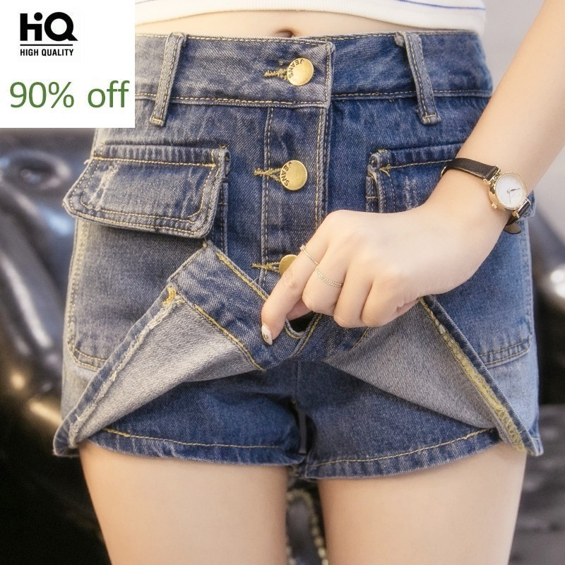 2020 New Arrival Hot Sale All-Match Fashion Denim Shorts For Women Slim Fit Personalized Jeans Shorts Skirts Hole Ripped Clothes