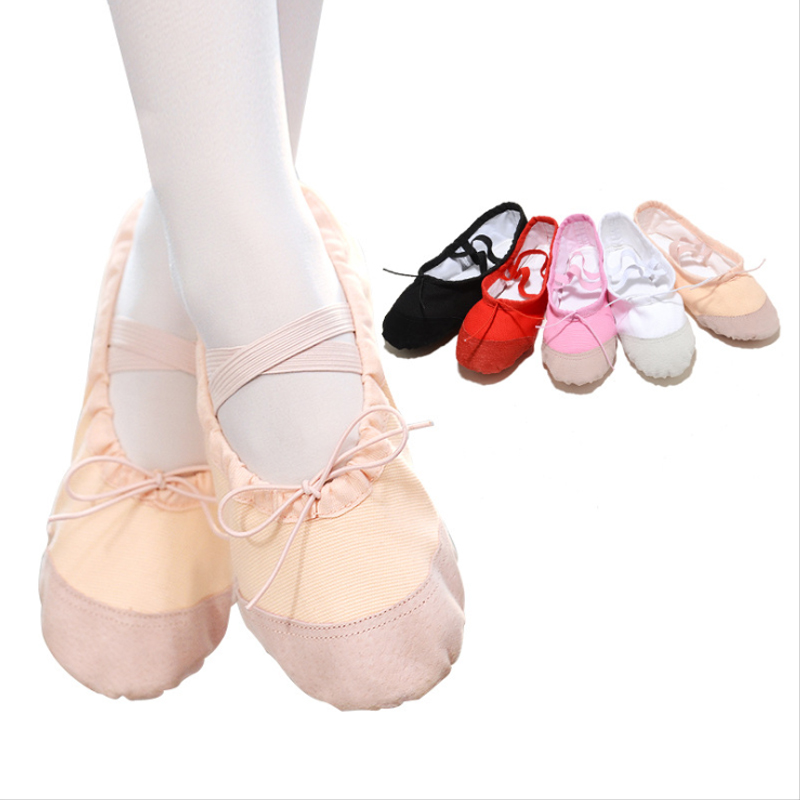 Boys And Girls Ballet Shoes Children Soft Bottom Leather Adult Gymnastics Practice Yoga Cat Claw Dance Shoes For Kids Wholesale