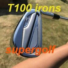 Новинка 2020, утюги для гольфа, высокое качество, Т100, набор кованых утюгов (3, 4, 5, 6, 7, 8, 9 P), с динамическим золотым S300 стальным валом, 8 шт., клюшки для гольфа