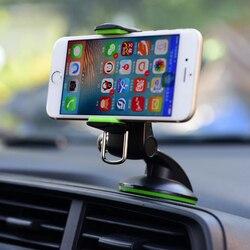 Dla iPhone 11 X XS 8 7 Plus uchwyt samochodowy uchwyt telefonu stojak do montażu trzymaj uniwersalny 360 obrót komórka mobilna wsparcie Smartphone Voiture