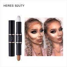 HERES B2UTY Highlight Foundation Base Contour Stick Beauty Make Up Face Powder Cream Shimmer Concealer Camouflage Pen Makeup heres b2uty full cover paleta de corretivo profissional 4 colors cosmetic camouflage concealer palette cream face makeup