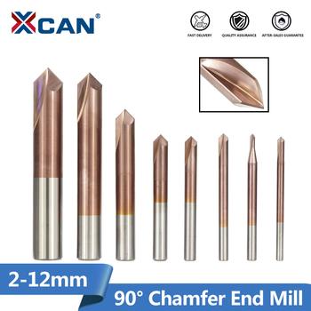 XCAN fazowanie frez 1pc 3-12mm 2 flety 90 stopni fazowanie frez trzpieniowy CNC frez TiCN powlekany frez węglikowy frez trzpieniowy tanie i dobre opinie CN (pochodzenie) Fazowanie Frezy 50-75mm WX012GTWG2502R90D 2-12mm Węglika R0 1