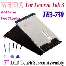 цена на WEIDA LCD Replacment 7 For lenovo Tab3 7 wifi Tab3-730 LCD Display Touch Screen Assembly Tab3-730F TB3-730 Frame