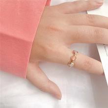 Momiji grânulos de cor de prata do ouro do vintage anéis para as mulheres feitas à mão de pedra natural casamento festa anéis elásticos lotes por atacado a granel
