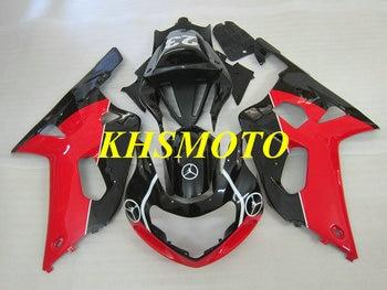 Kit de carenado de motocicleta para GSXR600 750 01 02 03 GSXR 600 GSX-R750 K1 2003 de 2001, 2002 ABS rojo negro Juego de carenados SM60