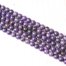 Purple Dragon Crystal Natural Stone Beads For Jewelry Making Diy Bracelet Necklace 4/6/8/10/12 mm Wholesale Strand