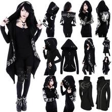 Gothic Punk Print Hoodies Sweatshirts Women Long Sleeve Jack