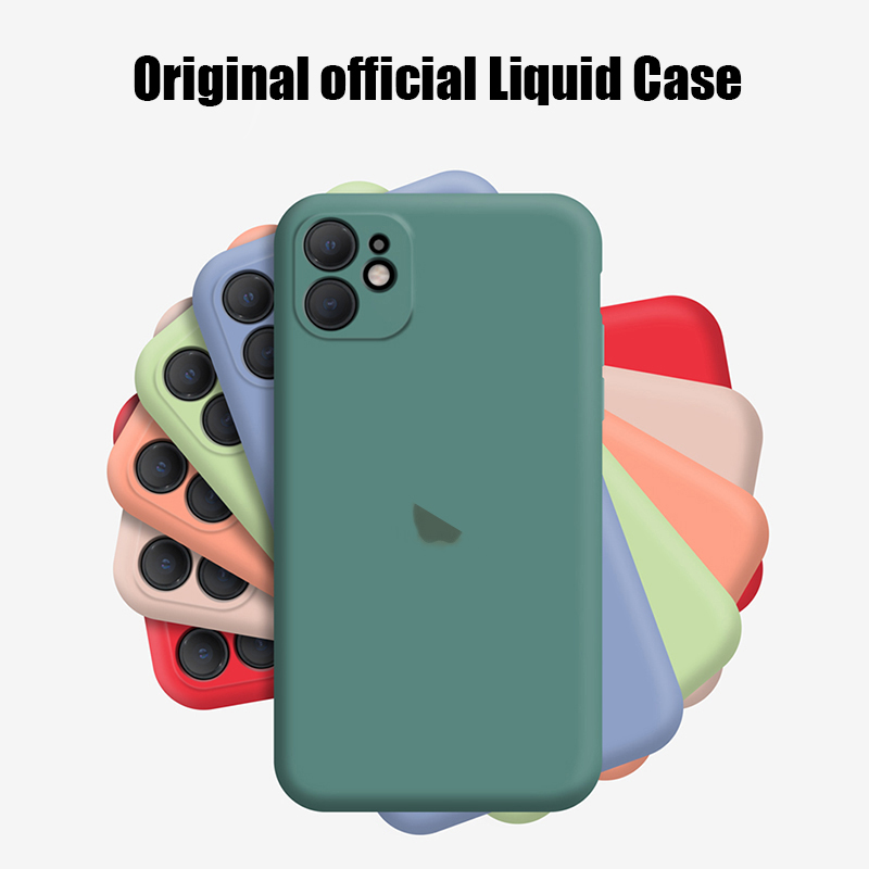 Official Original Logo Silicone Case For Apple Iphone 11 7 8 6 6s Plus Xr Xs Max X 11 Pro Max 2019 With Logo Case