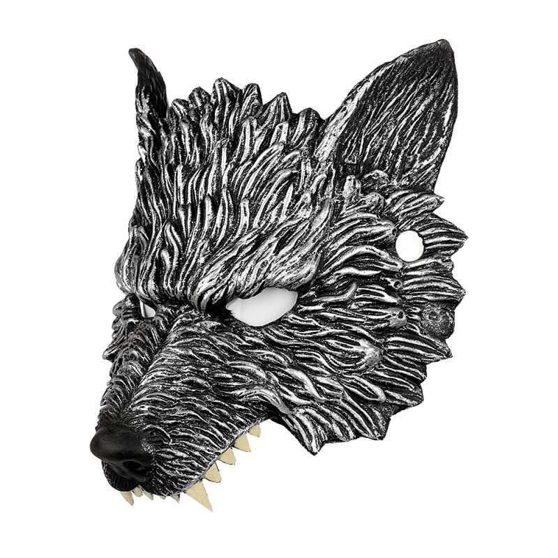 هالوين الذئب تأثيري قناع تنكر واقعية زي كرنفال اكسسوارات ثلاثية الأبعاد الحيوان الرهيب قناع للكبار للجنسين