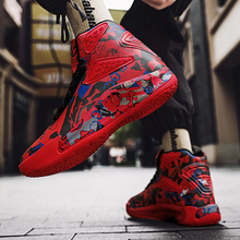 Lace-Up-Sneakers Running-Shoes High-Top Men's Multicolor Non-Slip Wear-Resistant Sapatos